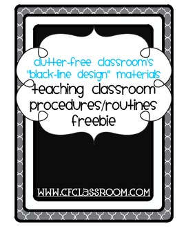 TEACHING PROCEDURES & ROUTINES SAMPLE PAGES{Blackline Design}