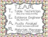 T.E.A.M. ~ Cooperative Group Job Descriptions {Bright Dots}