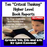 "TEN BUNDLED ""Higher Level""  BOOK REPORTS"