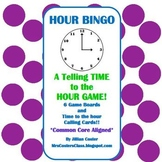 TIME BINGO!  A Telling Time to the HOUR Game!