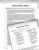 Language Arts Test Preparation Level 5 - Thomas Paine, Writer
