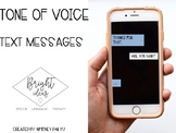 TONE OF VOICE: TEXT MESSAGES UPDATED