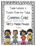 Table Lessons Partial Product Area Models and Arrays