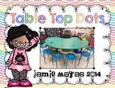 Table Top Dots {HOT COLORS}{Line Up Vinyl Dots}