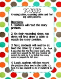 Tables- Math Practice
