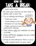 Take a Break / Thinking Chair Poster - Responsive Classroo
