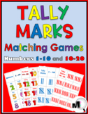 Tally Marks Matching Games - Numbers 1-10 and 10-20