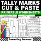 Tally Marks Math No Prep Worksheet Packet Print and Go!