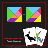 Tangram – Double Tangrams - Puzzle Cards and Pieces