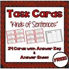 """Task Cards - """"Kinds of Sentences"""""""