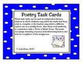 Task Cards for Poetry