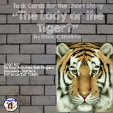 """Task Cards for the Short Story """"The Lady or the Tiger?"""" by"""
