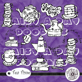 Tea Time - Clip Art - Hand drawn by DaisyADayDoodles