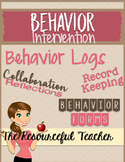 Behavior Documentation Forms for Teacher Binder