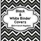 Teacher Binder Covers: Black and White (23)