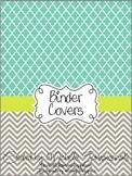 Teacher Binder Covers - Turq + Lime: Cool Tones