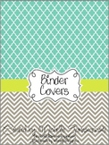 Teacher Binder Covers - Turq + Lime: Cool Tones