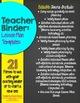 Editable Teacher Binder Lesson Plan Templates