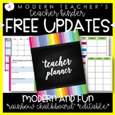 Teacher Binder (Planner & Organizer BUNDLE-Chalkboard) Edi