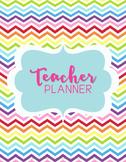 Teacher Binder Planner Organizer, Common Core, Editable, Chevron