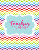 Teacher Binder Planner Organizer, Common Core, Editable, Chevron