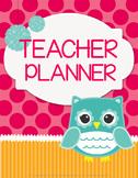 Teacher Binder Planner & Organizer Common Core Editable - Owls