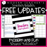 Teacher Binder Planner & Organizer Common Core Editable - Stripes