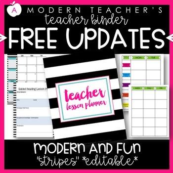 Editable Teacher Binder