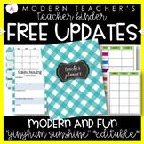 Teacher Binder Planner Organizer, Common Core, Editable, Sunshine