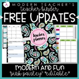 Teacher Binder Planner Organizer, Common Core, Editable, P