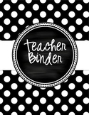 Teacher Binder - Polka Dot