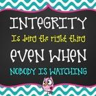 Teacher Classroom Wall Poster - Integrity