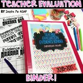 Teacher Evaluation Binder: Aim for Excellent!