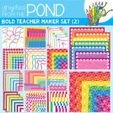 Teacher Maker Set 02 - Brights - Paper and Frames for Teachers