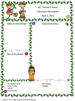 Teacher Newsletter Template - Explorer Theme