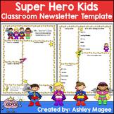 Teacher Newsletter Template - Super Hero Theme