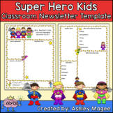 Teacher Newsletter Template - Super Hero Theme