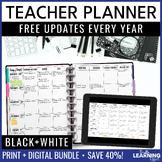Teacher Planner - Black and White