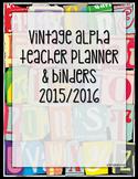 Teacher Planner: Vintage Alpha