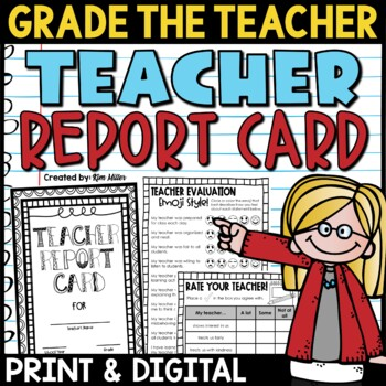 Teacher Report Card (for end of year)