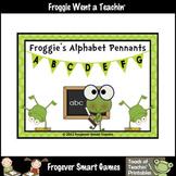 Teacher Resource -- Froggie's Alphabet Pennants (lime green)
