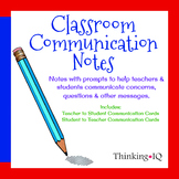 Teacher & Student Communication Cards