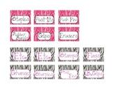 Teacher Toolbox Labels - ZEBRA THEMED