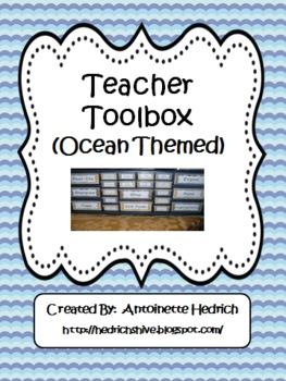 Teacher Toolbox (Ocean Themed) - EDITABLE