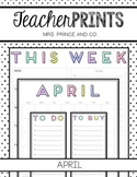 TeacherPRINTS April {teacher stationary and printables}
