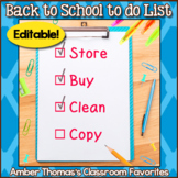 Teacher's Back to School to do List