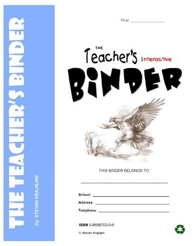 Teacher's Binder - printable classroom forms, worksheets,