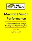 Teacher's Checklists for Eye Tracking and Vision Perception