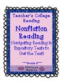 Teachers College Nonfiction Reading Unit for 3rd Grade