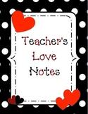 Teacher's Love Notes binder cover